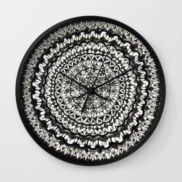 Pen and Ink Mandala Wall Clock