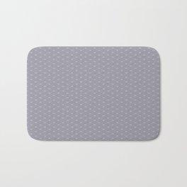 Pantone Lilac Gray Double Scallop Wave Pattern Bath Mat