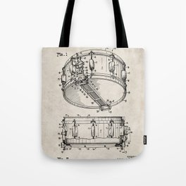 Snare Patent - Musician Art - Antique Tote Bag