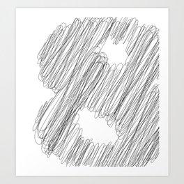 """ Cloud Collection "" - Minimal Number Eight Print Art Print"