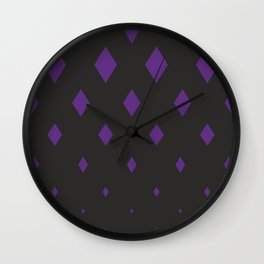 violets romb on black ver. simple Wall Clock