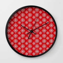 Winter Wonderland Snowflake Christmas Pattern Wall Clock
