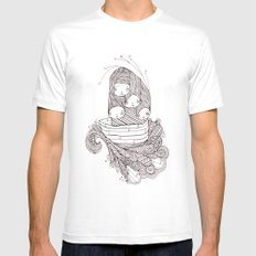 ship of fools Mens Fitted Tee MEDIUM White