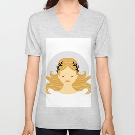 Virgo Zodiac Sign Symbol: The Maiden Unisex V-Neck