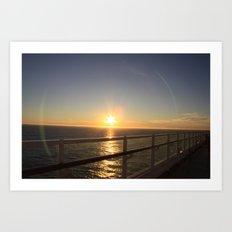 Ocean Sun Art Print