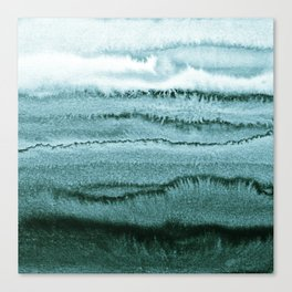 WITHIN THE TIDES - OCEAN TEAL Canvas Print