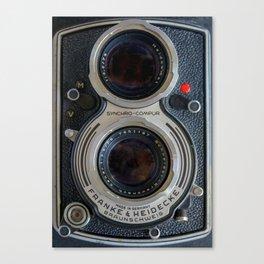 Close Up of Vintage Film Camera Canvas Print