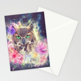 Space Owl with Spice Stationery Cards