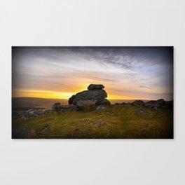 Dartmoor Sunrise  Canvas Print