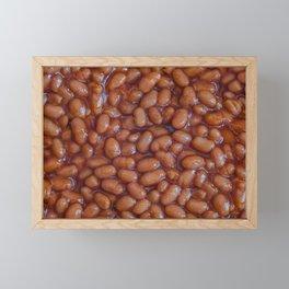 Baked Beans Pattern Framed Mini Art Print