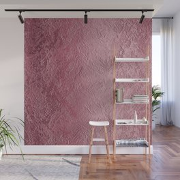 Textured Blush Rose Foil Wall Mural
