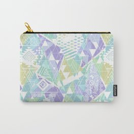 Abstract ethnic pattern in pastel colors. Carry-All Pouch