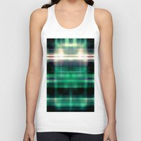 plaid Tank Tops featuring New Plaid by Robin Curtiss