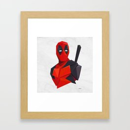 DeadPooLow-Poly Framed Art Print