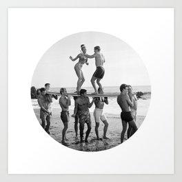 Beach Party 2 Art Print