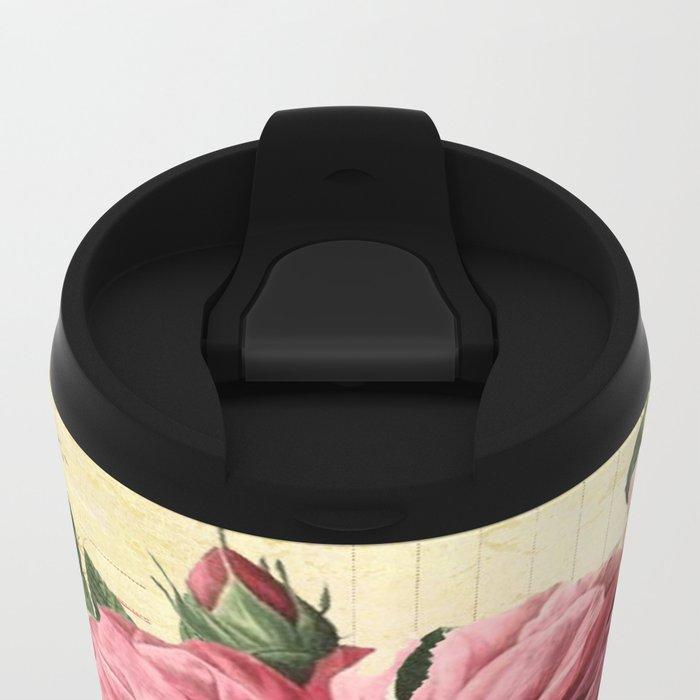 Vintage flowers #28 Metal Travel Mug