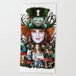 We are all mad here Beach Towel