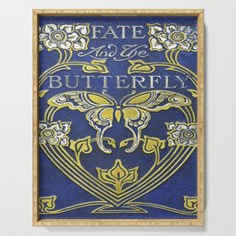 Fate and the Butterfly Book Cover Serving Tray