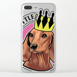 Brown dachshund queen Clear iPhone Case
