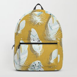 Feathers Mustard #homedecor Backpack