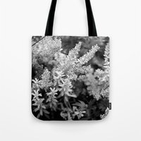 Leaves black n white Tote Bag