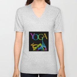 Yoga addicts Unisex V-Neck