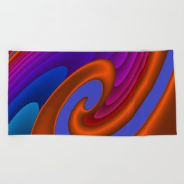 sweeping lines for your home -7- Beach Towel