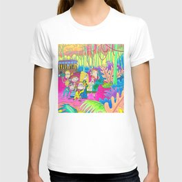 The Wild Thornberrys Nickelodeon 90s Trippy forest T-shirt