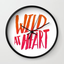 Wild At Heart x Typography Flame Ombre Wall Clock