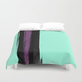 Black and Purple in the Mist Duvet Cover
