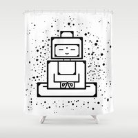om Shower Curtains featuring om by andrealamas