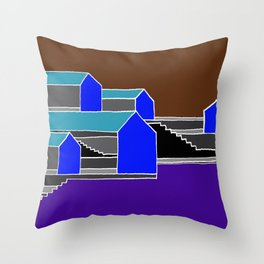 Black Stairs Throw Pillow