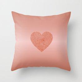 English Rose Ombre color HEART Throw Pillow