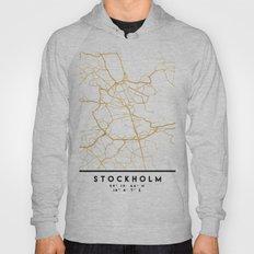STOCKHOLM SWEDEN CITY STREET MAP ART Hoody