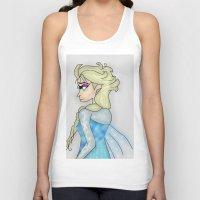 frozen elsa Tank Tops featuring Elsa by crazy_feline