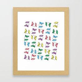 Dancing with Butterflies Framed Art Print