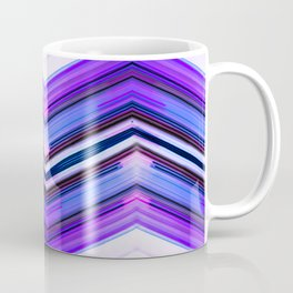 Geometric Wave - Ultra Violet Minimal Geometric Abstract Coffee Mug
