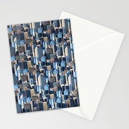 Boston Massachusetts Skyline Pattern Stationery Cards