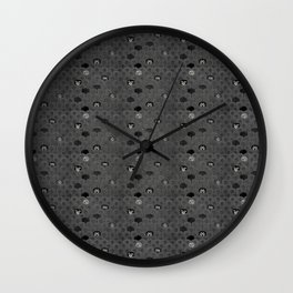 Rock Scales (Black and White) Wall Clock