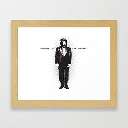 Survival of the Fittest (Monkey in Tuxedo) Framed Art Print