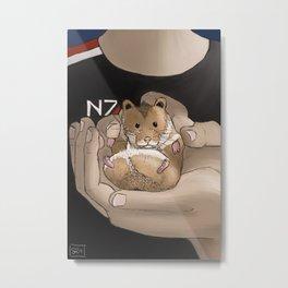 Space Hamster Metal Print