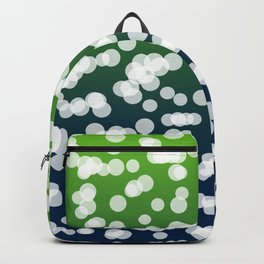 Blue & Green: Blurry Lights Backpack