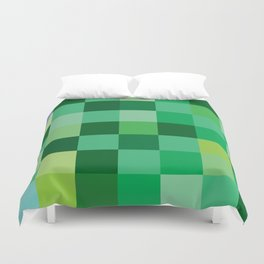 Squares of Luck Duvet Cover