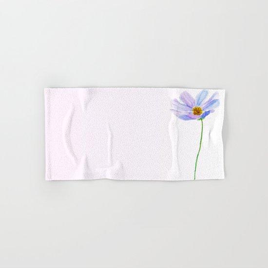 one purple cosmos Hand & Bath Towel