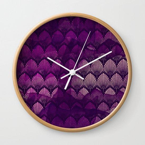 Variations on a Feather II - Purple Haze  Wall Clock