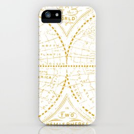 A Golden World iPhone Case