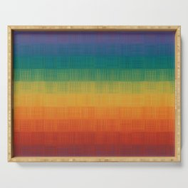 Colorful Grunge Texture Pattern Seamless Abstract Rainbow Multi Colored Illustration Serving Tray
