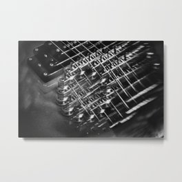 Playing around with an electric guitar Metal Print