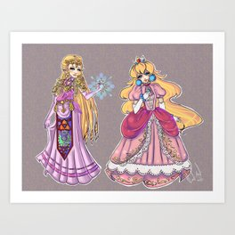 Princess Smash Art Print