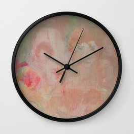 soft garden pink Wall Clock